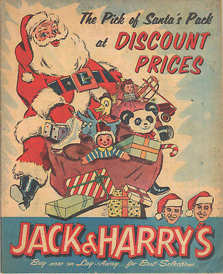 1955 Jack & Harry's Christmas Catalogue-All Color-Lots Of Toys-Davy Crockett Etc