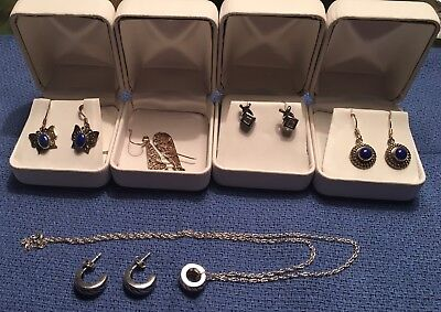 Sterling Silver EarRing & Necklace Lot (6)