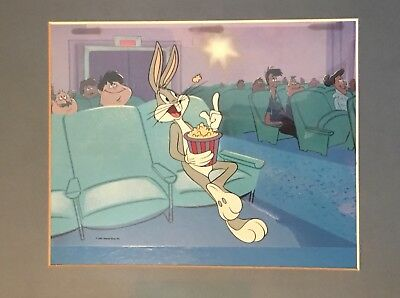 """Bugs Bunny serigraph cel from """"He's 50, Folks!"""", special 50th anniversary book"""