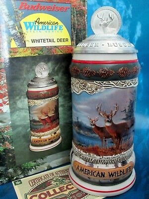 Stein Anheuser Busch Whitetail Deer American Wildlife Rare Number CS466 NIB
