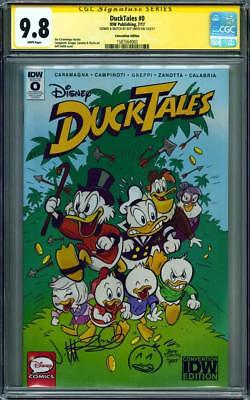 DUCKTALES #0 CGC 9.8 SS Jeff Smith signed & sketched SDCC 2017 Exclusive (BONE)