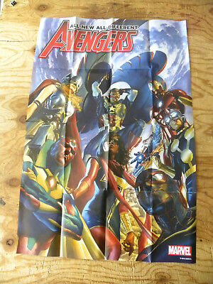 Marvel 2015 ALL-NEW ALL-DIFFERENT AVENGERS #1 by Alex Ross 24 X 36 poster rare