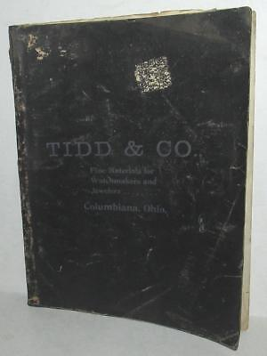 1900-1901 Tidd & Co. Fine Materials For Watchmakers And Jewelers Catalog Ohio