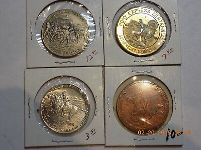 (4) Different Pony Express Medals including HK-583 So Called Dollar - Nice Group