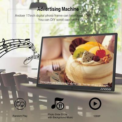 """Andoer 17"""" HD 1080P LED Digital Photo Frame Picture Abulm MP4 Movie Player Book"""