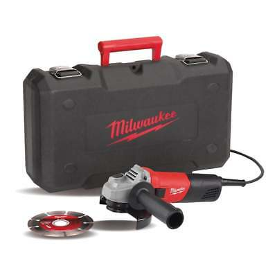Milwaukee Angle Grinder 115mm AG800 In Case With Diamond Blade 110v