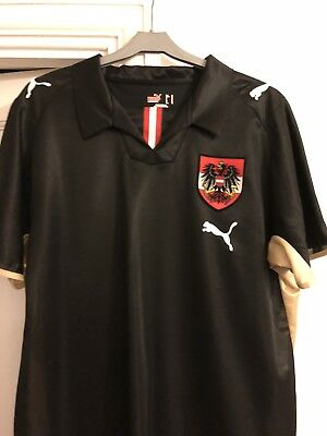 Austria Football Shirt puma Away men's medium