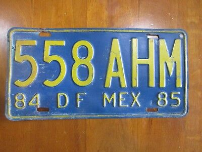 1 Genuine embossed license plates from MEXICO (1984/ 5) # 558 AHM