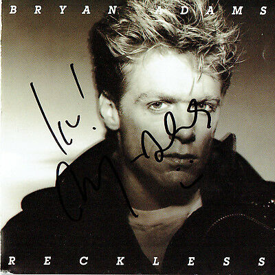 Bryan Adams Hand Signed Autographed CD Album Booklet - Reckless
