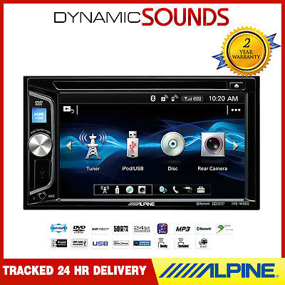 """Alpine IVE-W560BT Car CD DVD Double Din Bluetooth Stereo iPod iPhone 6.2"""" LCD"""