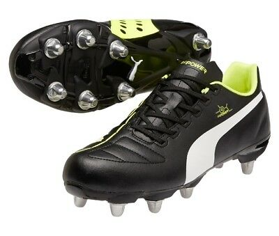 Puma Men's evoPOWER 4 H8 SG Low Cut Rugby Boots Soft Ground 16 Removable Studs