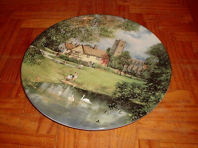 ROYAL DOULTON THE VILLAGE POND by CLIVE MADGWICK DECORATIVE PLATE