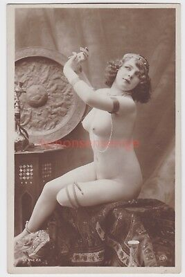 MISS FERNANDE France EROTIC RISQUE NAKED NUDE NU WOMAN Serie 61 REAL PHOTO - 02