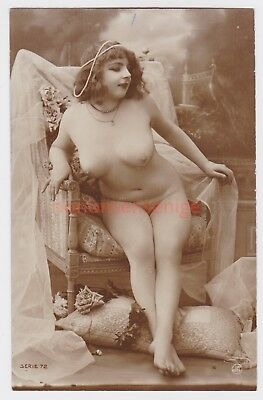 MISS FERNANDE France EROTIC RISQUE NAKED NUDE NU WOMAN Serie 72 REAL PHOTO - 05