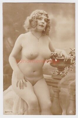 MISS FERNANDE France EROTIC RISQUE NAKED NUDE NU WOMAN Serie 73 REAL PHOTO - 08