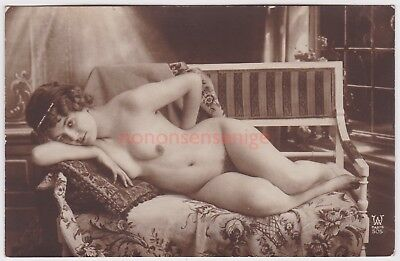FRANCE EROTIC RISQUE NAKED NUDE WOMAN DESHABILLE W Paris 505 REAL PHOTO PC - 09