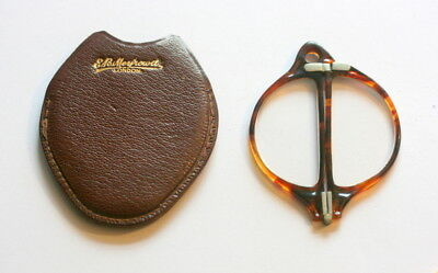 Excellent Cond. Folding Lorgnettes With Leather Case Etui, With Reading Lenses