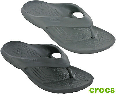 Crocs Classic Flip Mens Lightweight Open Toe Flat Summer Holiday Beach Sandals