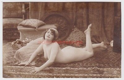 FRANCE EROTIC RISQUE NAKED NUDE NU WOMAN DESHABILLE JA Serie 9 REAL PHOTO PC -18