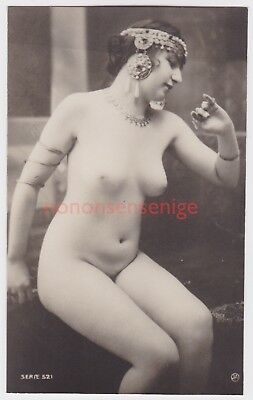 FRANCE EROTIC RISQUE NAKED NUDE NU DESHABILLE WOMAN JA Serie 521 REAL PHOTO - 21