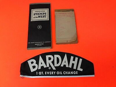 Misc Lot Of Vintage 1940/50's Original Flying A  Bardahl Gas Station Tems