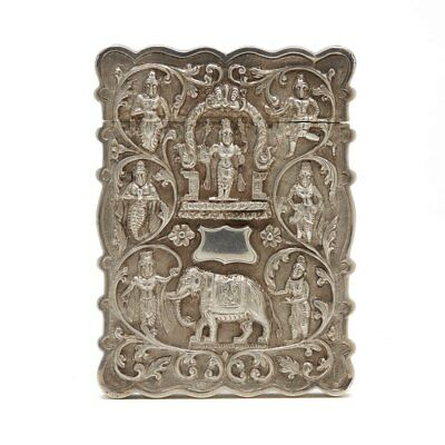Antique Indian Silver Embossed Card Case C.1900