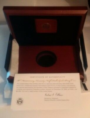 US Mint Box & COA for 2014-W 50C High Relief Gold PROOF JFK Kennedy NO COINS !!!