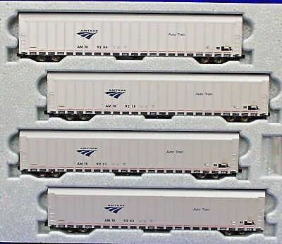 N Scale - KATO 106-5505 AMTRAK Auto rack Phase V 4-Car Set # 3 NEW IN BOX !!!