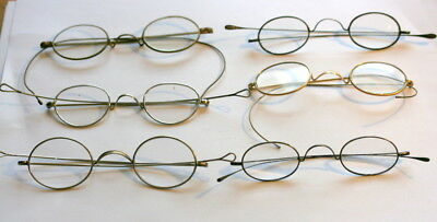 6 X Vintage Reading Spectacles With Lenses, All Good Nothing Broken Or Missing