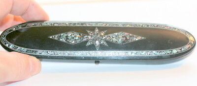Abalone And Mother Of Pearl (None Missing !)Spectacles Case Etui, Good Cond.