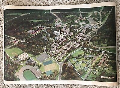 VINTAGE DUKE UNIVERSITY Campus Map 4-18-38 - $12.50 | PicClick on