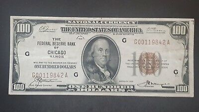 Series of 1929 $100 National Currency FRB Chicago, IL  - US Coins