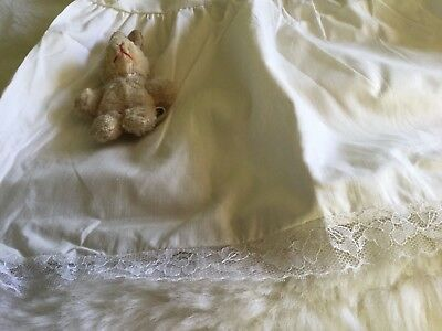 GIRLS BABIES INFANTS  TRUE  VINTAGE COTTON PETTICOAT  UNUSED 3m 1970s AUTHENTIC