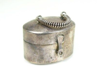 Vintage Sterling Silver 925 Smooth Pill Box 23.4g