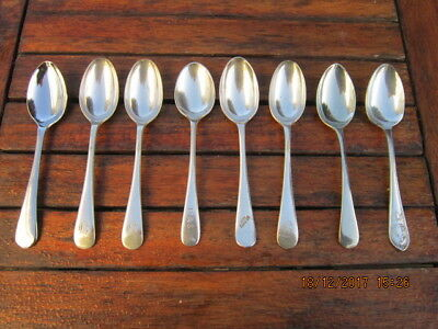 Vintage Teaspoons Silver Plated Lot of 8