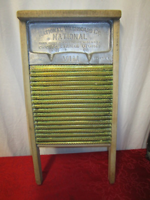 PRE OWNED Antique National Washboard Co Sept 7th 1915 Washboard(450)