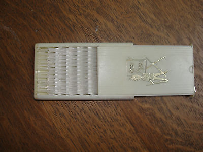 Sentry Motels, slideaway compact brush, Made in England, old, hotel brush