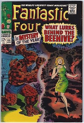 FANTASTIC FOUR #66 (1967)  VFN- 7.5 Unstamped Cents, 1st WARLOCK?