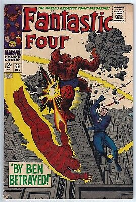 FANTASTIC FOUR #69 (1967)  FINE 6.0 Unstamped Cents