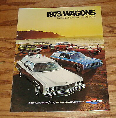 Original 1973 Chevrolet Station Wagon Sales Brochure 73 Chevy Blazer Chevelle