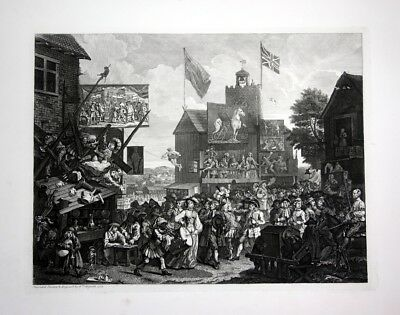 Southwark Fair Jahrmarkt Radierung etching William Hogarth