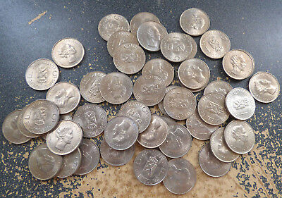 Luxembourg 5 Francs 1962, Dealer Lot of 47 XF Coins, 1 Year Type, KM 51