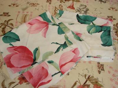 2 x Pieces of Vintage Fabric Remnants~Large Flowers~Unused~Cushion Cover ?