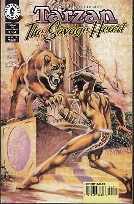 TARZAN  #3 1999 DARK HORSE-THE SAVAGE HEART- P3/4  GROSS/ GRELL-c/a...NM-