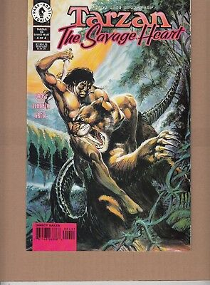 TARZAN  #4 1999 DARK HORSE-THE SAVAGE HEART- P4/4  GROSS/ GRELL-c/a...NM-