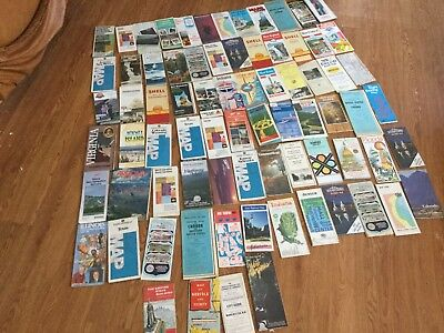 Lot Of 72 Vintage Road Maps Mixed Lot