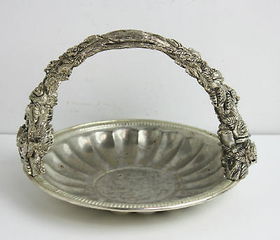 Vintage Silver Plated Ornate Decorative Centerpiece Basket