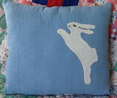 Oh My~ Vintage 20s Applique Quilt Bunny Pillow #3