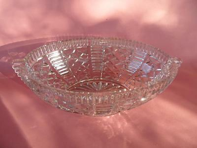 Large Vintage Art Deco Glass / Crystal Fruit Bowl Centrepiece Czechoslovakia
