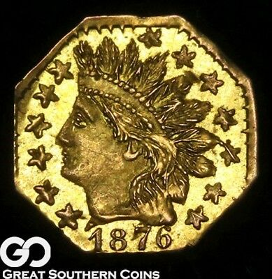 1876 California Gold, $1/4 Gold Indian, Octagonal, Highly Desired ** Free S/H!